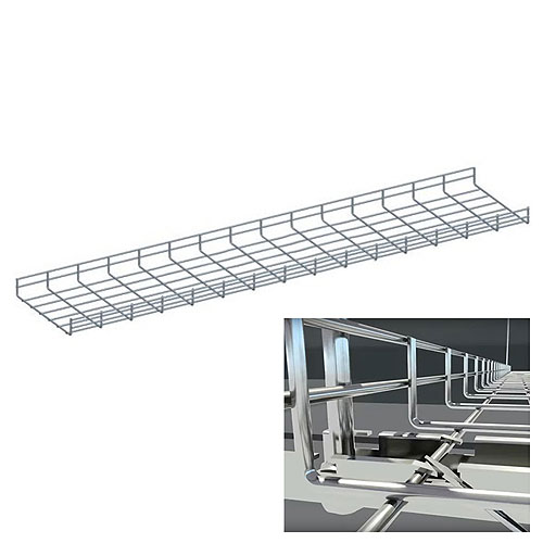 """10ft Cable Tray, 4""""w X 2""""h, Zinc"""