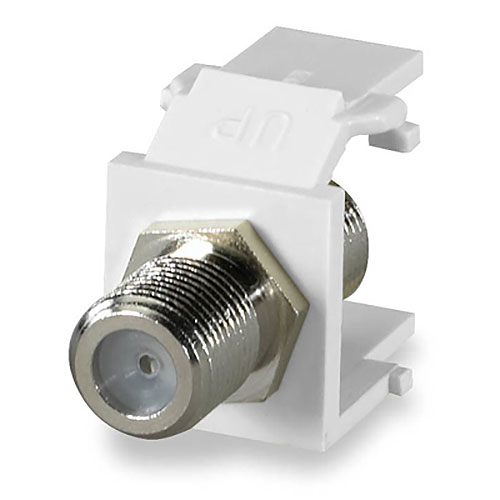 Signamax CMK-F-WH F-Type Keystone Connector Module, 1 GHz, White