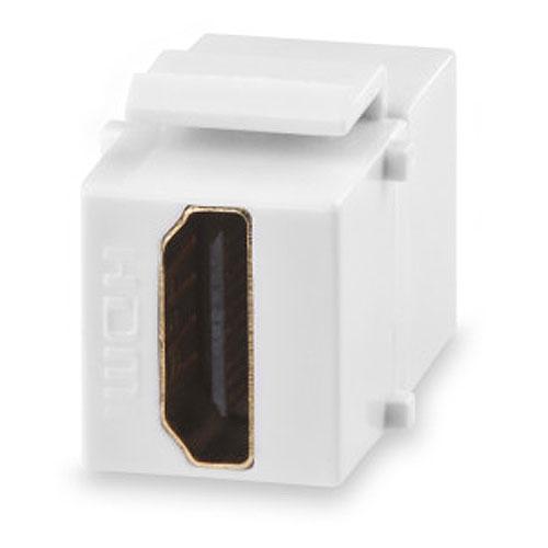 Signamax CMK-HDMI-DI HDMI Feed-Thru Keystone Connector Module, Light Ivory