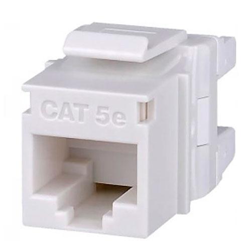 Signamax KJ458MT-C5E-WH Category 5e MT-Series Keystone Jack, T568A/B Wiring, White