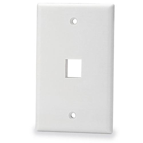 Signamax SKF-1-WH 1-Port Single-Gang Keystone Faceplate, White