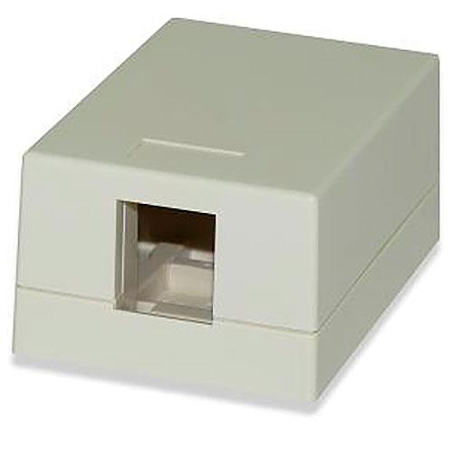 Signamax SMKL-1-WH 1-Port Surface Mount Multimedia Box, Black