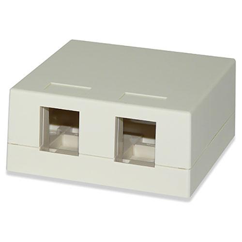 Signamax SMKL-2 2-Port Surface Mount Multimedia Box, Light Ivory