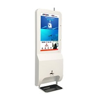 ORION Images 21.5 Inch LCD Kiosk with Hand Sanitizer