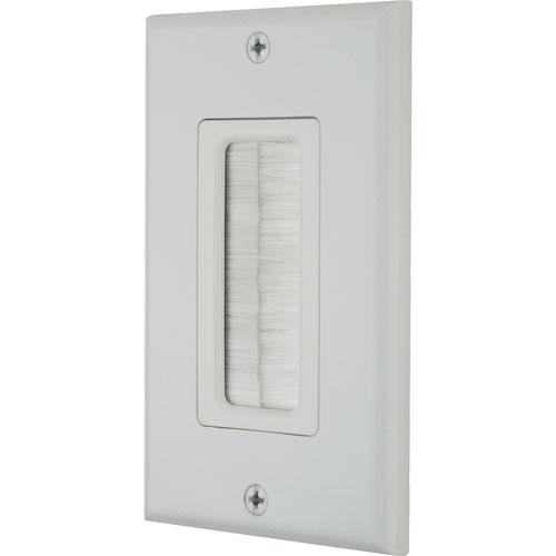 DataComm 45-0018-WH Décor Brush Plate