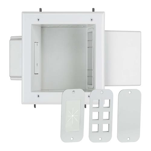 Expandable Media Box W/Duplex Recpt White
