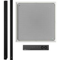amaha ADECIA Ceiling Microphone Bundle with Speakers & No Switch for Audio/Videoconferencing (White Mic, Black Speakers)