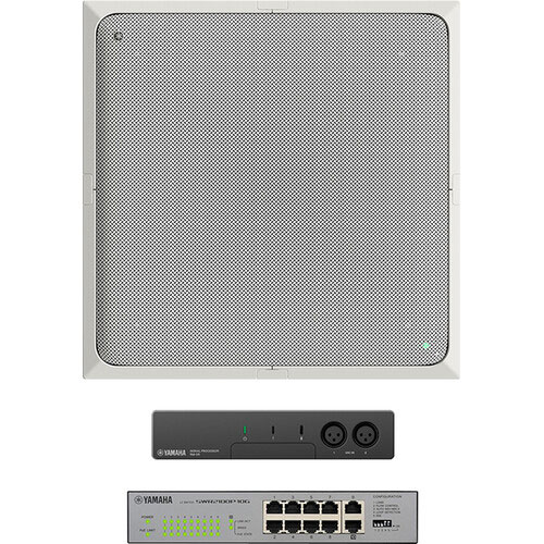 Yamaha AD-CG-W-NS ADECIA Ceiling Microphone Bundle for Audio/Videoconferencing, White