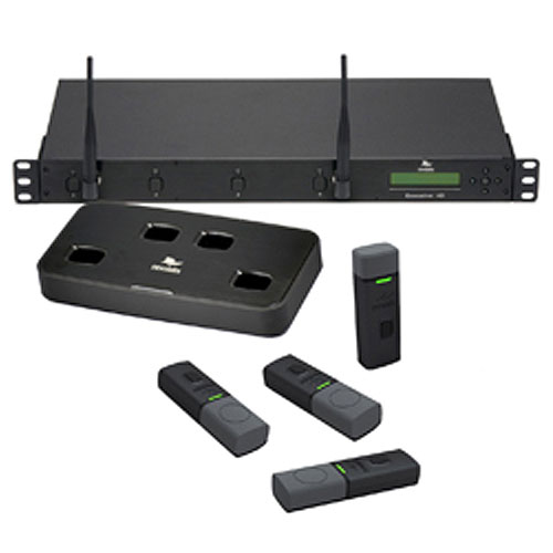 Revolabs Executive HD 01-HDEXEC4-31G 4-Channel Wireless Microphone System