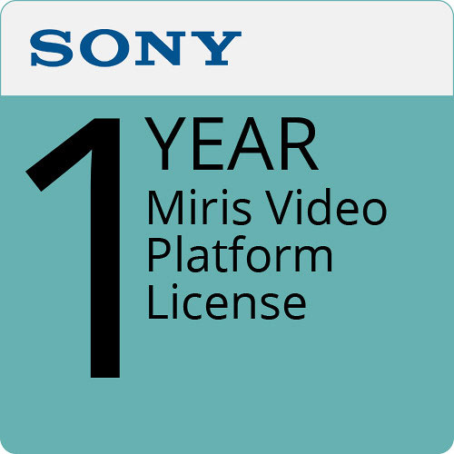 Sony UBIMSRL Miris Video Platform License # Year 1