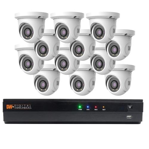 12 Turret Cameras (DWC-MTT4WI28) and 3TB NVR (6K-VP163T16P)