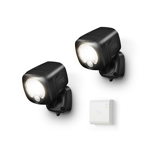 Ring B07QLNH537 Smart Lighting Spotlight Kit, 2 Spotlights + 1 Bridge, Black