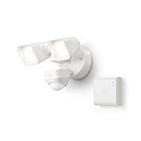 Ring B07Y48LDSX Smart Lighting Floodlight Wired Kit, 1 Floodlight + Bridge, White