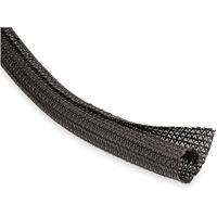 Techflex FLEXO F6's 1in. Flexible, Semi-Rigid Wrappable Split Braided Tube, Black, 100ft