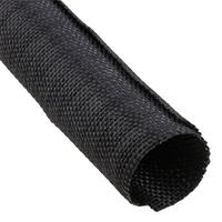 Techflex F6W2.00BK BULK F6 WOVEN WRAP 2in. Split Tubular Harness Wrap, Black, 40ft Bulk