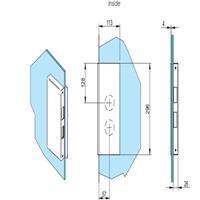 SALTO KS Strike Plate for XS4 Original Glass, RHR CEGDRRIM