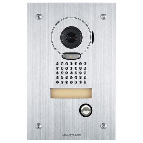 Aiphone JP-DVF Video Door Station, Vandal Resistant Flush Mount Stainless Steel