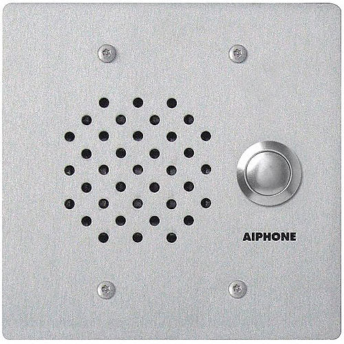 Aiphone LE-SS/A 2 Gang Door Station, Weather Resistant, Flush Mount for use with LEF, LEM, AP-M or MP-S Series, Stainless Steel