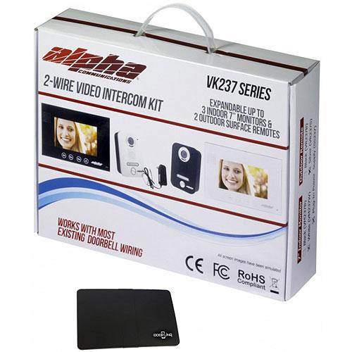 "Alpha VK237WS 1-Unit 7"" Color Video Entry Intercom Kit"