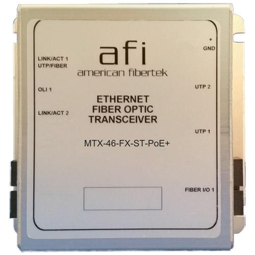Afi 10/100 Base-T to 100 Base-FX Ethernet Media Converter