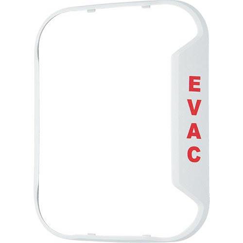 Evac White Bezel For Wall-Mount Horn Strobe - Works W/ Chwl, Chswl, Hwl, P2wl, Swl Models