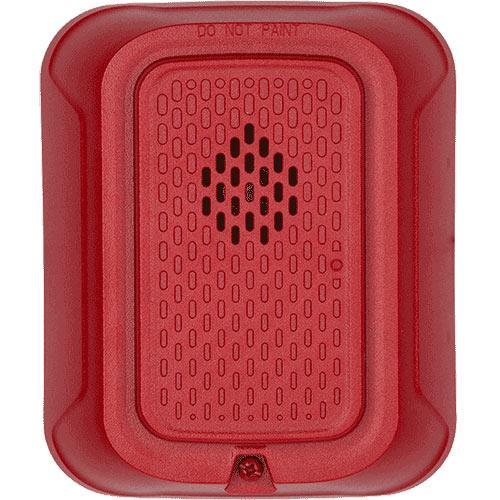 System Sensor HRL L-Series Indoor SelectableOutput Horn, Wall Mount, NO Marking, Red