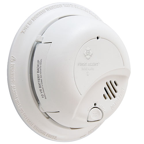 IONIZATION SENSOR SMOKE ALARM WITH 10-YEAR LITHIUM BATTERY