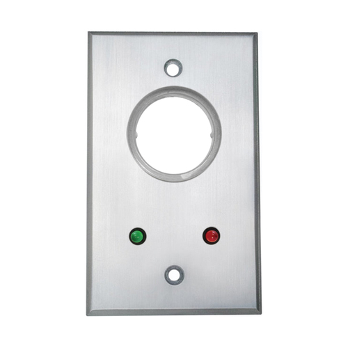 Sngl Gng Fp Key Swtch, Dpdt Mntnd (2) Red & Grn12v