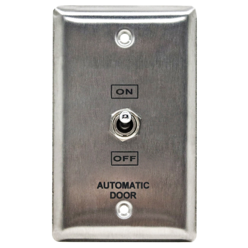 Sing Gng S Steel Fcplt 3pos Switch, On, Off, Hold Opn