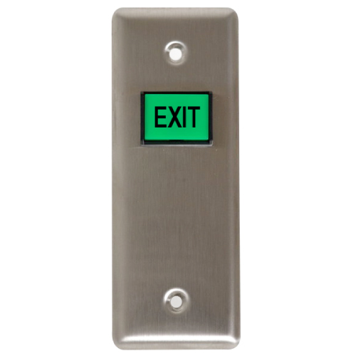 Button Square W/ Exit Logo On It