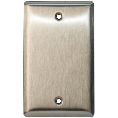 Single Gang Stainless Steel Cover Plate