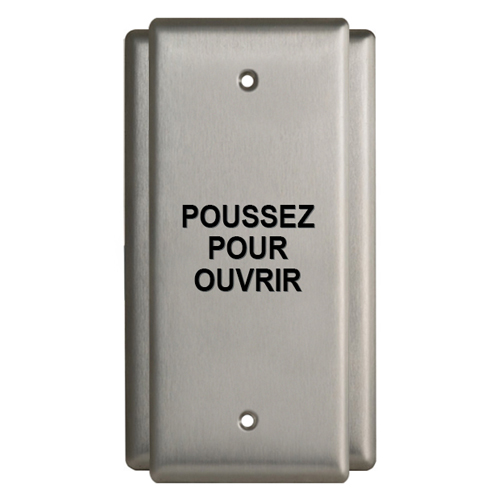 """SNG GNG 4-1/2"""" X 2""""PUSH PLATE SWITCH"""
