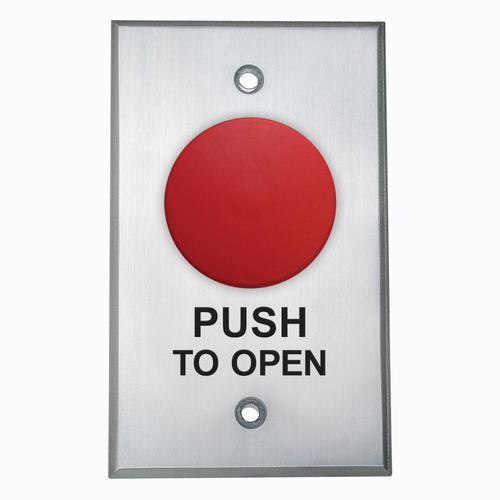 Push/Pull, N/O, Maintained, Red Only Button
