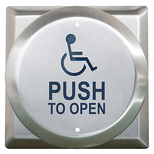 "4 1/2""rd W/Sq Bkpl Handicap/Push To Open Blue"