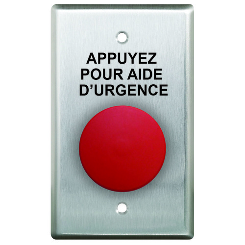 Press For Emergency Assistance . French Language