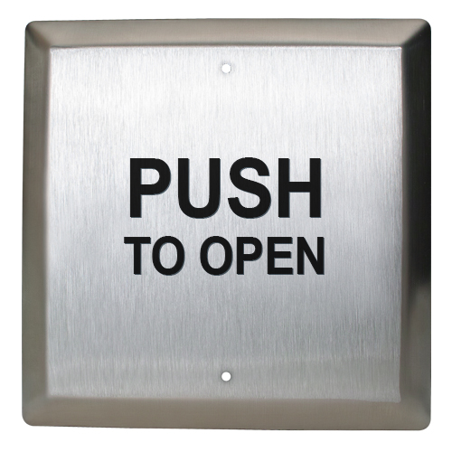 """4""""sq Switch, Push To Open Dpdt"""