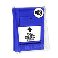 """Blue """"pull For Door Release"""" Station C/W Lift Cove"""