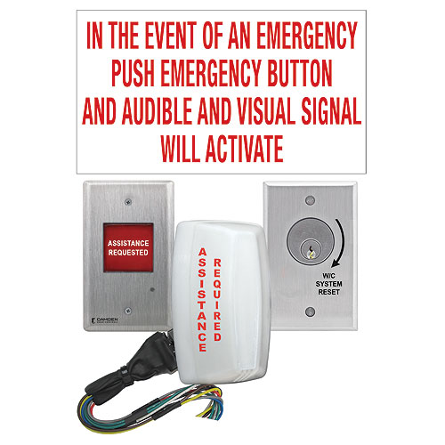 UNIVERSAL EMERGENCY CALL KIT WITH KEY SWITCH RESET