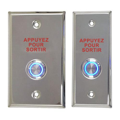 CDVI PREXLFR Illuminated Rex Push Button + Latch Switch French