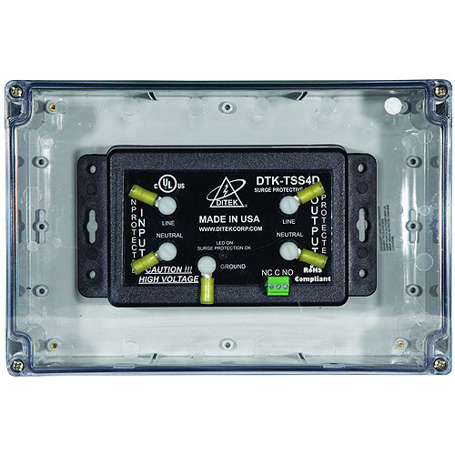 DITEK 54kA Series Connected Surge Protector with Dry Contacts