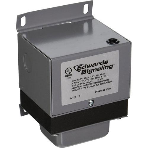 Edwards Signaling 88-50 Heavy Duty Power Transformers, 120V, 50 Watt