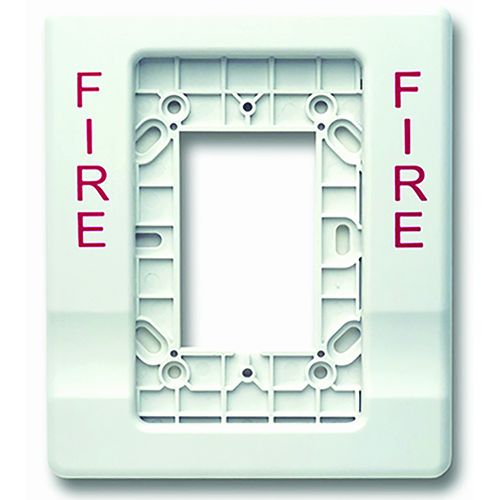TRIM PLATE FOR STROBE 4' WHITE WITH FIRE