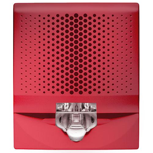Kidde EG4SVRN Genesis EG4 Wall Speaker/Strobe, 15-110cd, Red, No Marking. Room Side Wiring Plate included.