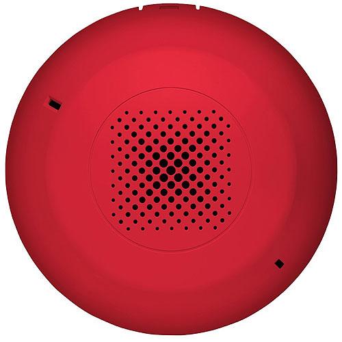 Kidde EGCSRN Genesis Ceiling Speaker, Red, No Marking. Room Side Wiring Plate included