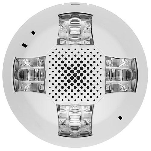 Kidde EGCSVWN Genesis Ceiling Speaker/Strobe, 15-115cd, White, No Marking. Room Side Wiring Plate included.