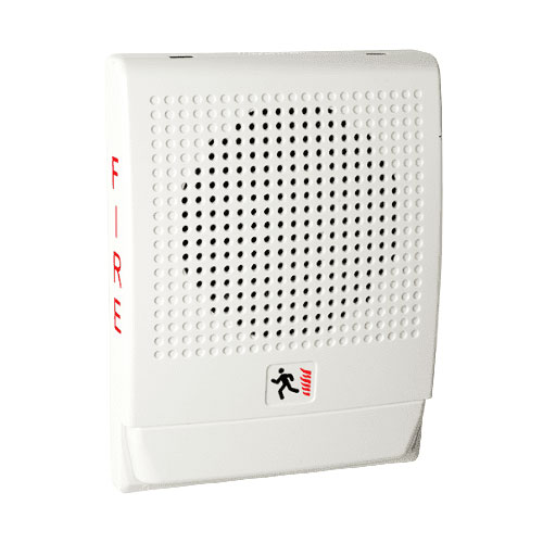 Edwards Signaling Low Frequency 520 Hz Horn, White, FIRE Markings