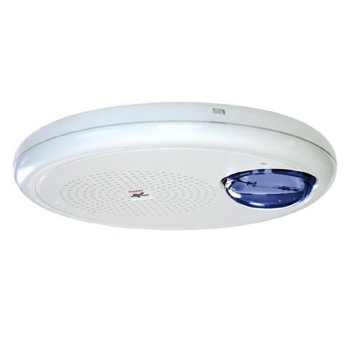 Kidde GCHFWN-S7VMBH High Fidelity Ceiling Speaker-Strobe, NO Marking, 70V, High Candela, Blue Lens, White