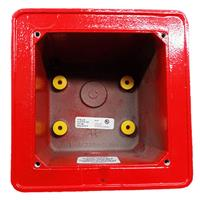 Edwards Signaling Weatherproof Box, Red, Outdoor
