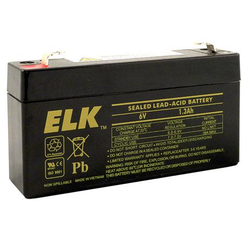 ELK-0613 Sealed Lead Acid Battery, 6 V 1.3Ah