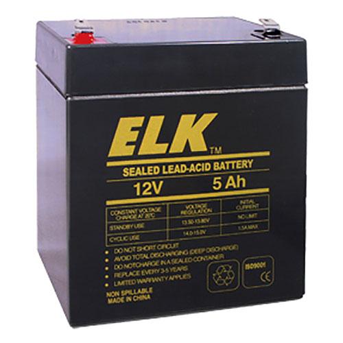 ELK Sealed Lead Acid Battery, 12 V 5Ah